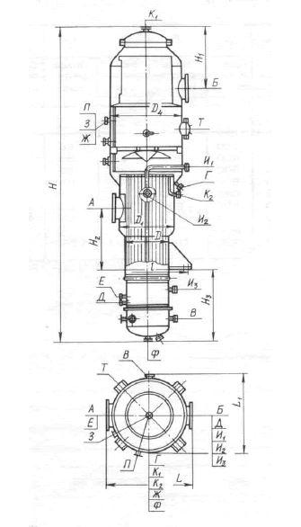 Выпарные трубчатые пленочные аппараты с восходящей пленкой тип 3,1