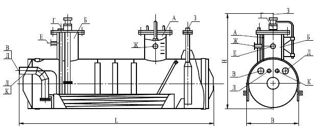 Емкость подземная горизонтальная дренажная типа ЕПП