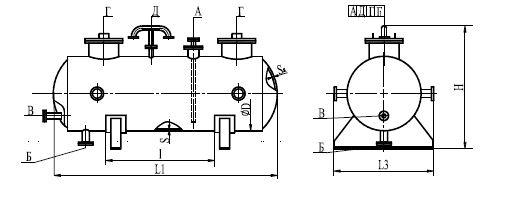 Емкость для хранения и раздачи жидких нефтепродуктов