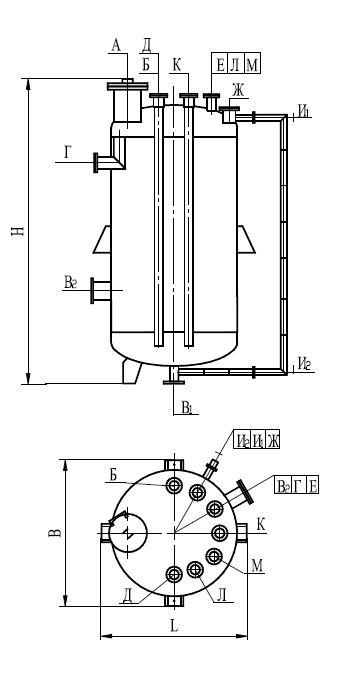 Аппарат вертикальный цельносварной типа ВЭЭ.