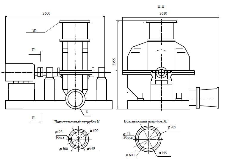 Турбокомпрессор газовый ТГ-300-1,18-В1-Н