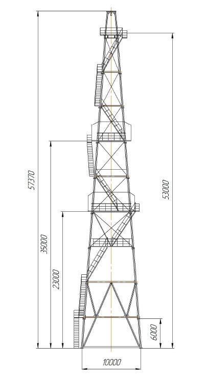 Вышка буровая ВБ-53Х320М