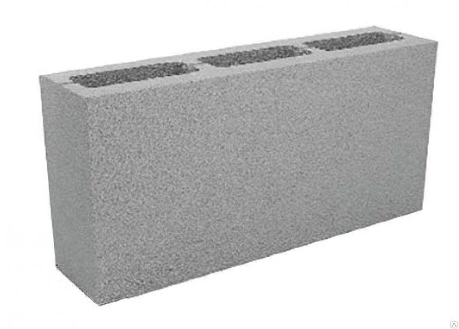 Купить Стеновой камень серый 390х188х190