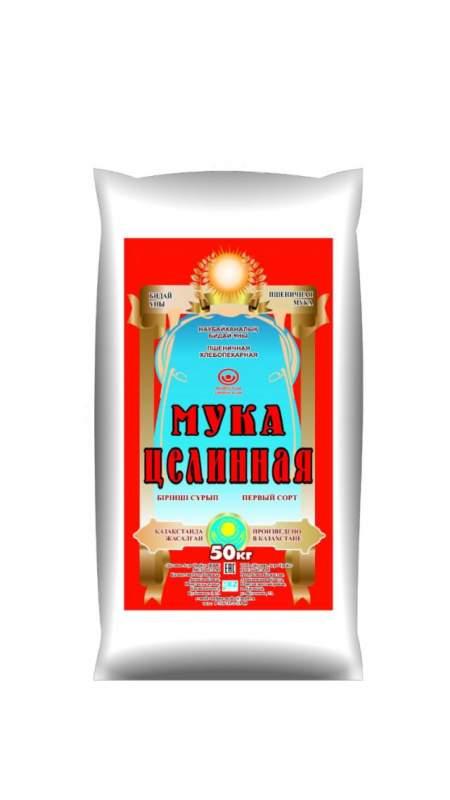 Мука Первый сорт, 25 кг от ТОО Целина Агро Трейд
