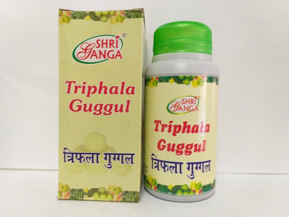 Трифала Гуггул Шри Ганга  (Triphala Guggul Shri Ganga), для очищения организма