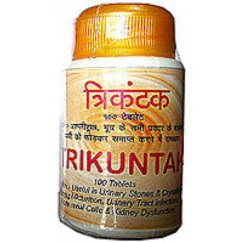 Трикунтак Шри Ганга (Trikuntak Shri Ganga), 100 таб,  для улучшения функционирования почек