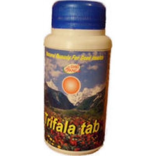 Трифала таблетки Шри Ганга  (Trifala Tab Shri Ganga), 200 таб. очищает ткани тела от токсинов, балансирует доши и возвращает их на места постоянного