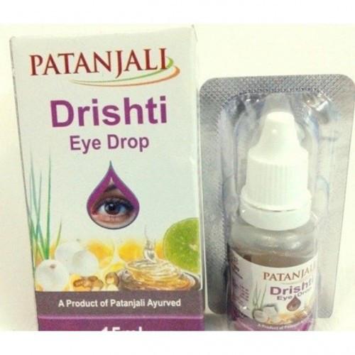 Капли для глаз Дришти от Патанджали, 15 мл, улучшает зрение, вылечивает многие заболевания