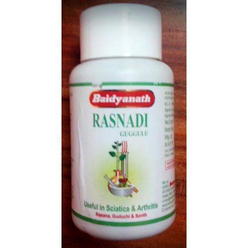Раснади Гуггул 80 таб. Rasnadi Guggulu Baidyanath. Уменьшает воспаление, успокаивает боль, устраняет неподвижность и воспаление суставов.
