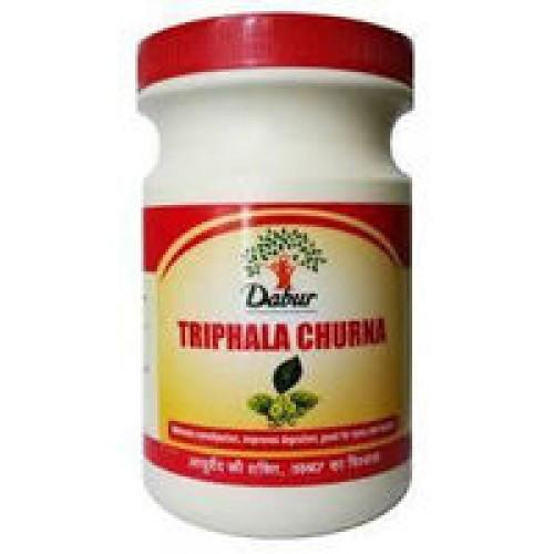 Трифала чурна Дабур 500гр. (Trifala churna Dabur 500gr.),  улучшает зрение, очищает кровь, нормализует мозговое кровоснабжение