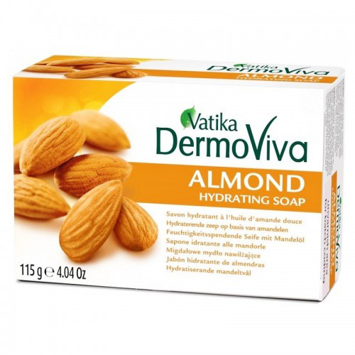 Увлажняющее мыло с Миндалем (Vatika Dermoviva Almond Soap) 115