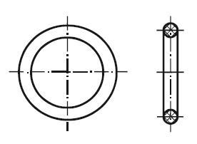 Купить Кольцо резиновое уплотнительное круглого сечения 016-020-25