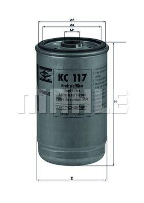 Фильтр топливный DAF WS295 KS 50013683 KC117 0241505 0246548 0247138 0247139 1318695 1318696 1902133 51125030045 0000928301 KC7 50013683