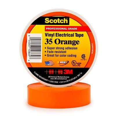 Купить Изолента ПВХ Scotch® 35 Высшего Класса, оранжевая