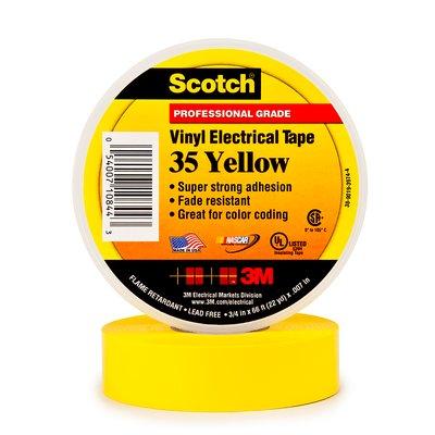 Купить Изолента ПВХ Scotch® 35 Высшего Класса, желтая
