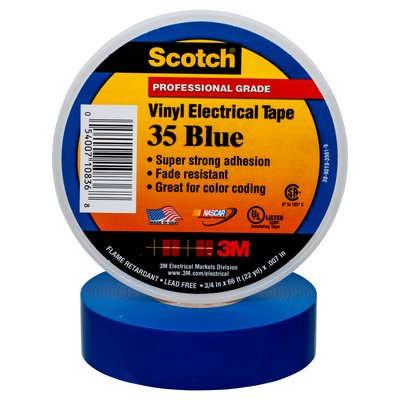 Купить Изолента ПВХ Scotch® 35 Высшего Класса, синяя