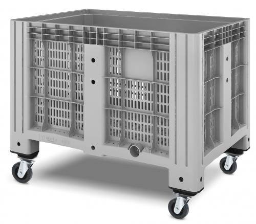 Buy Plastic container iBox 1200х800 perforated, on wheels