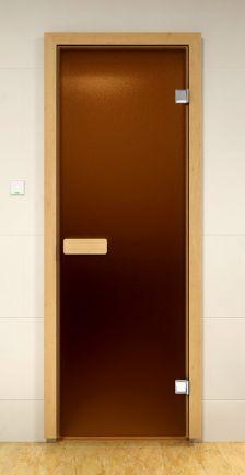Двери для сауны стеклянные (бронза-матовая) Harvia (Финляндия)