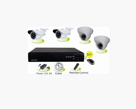 Комплект HD видеонаблюдения на 4 камеры