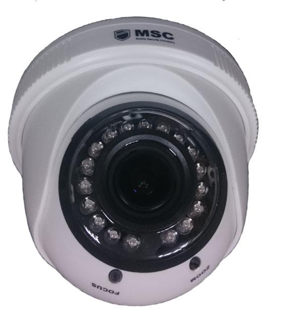 Купольная IP камера - 1.3Mп, вариофокальный объектив f 2.8-12mm, IR 20 м