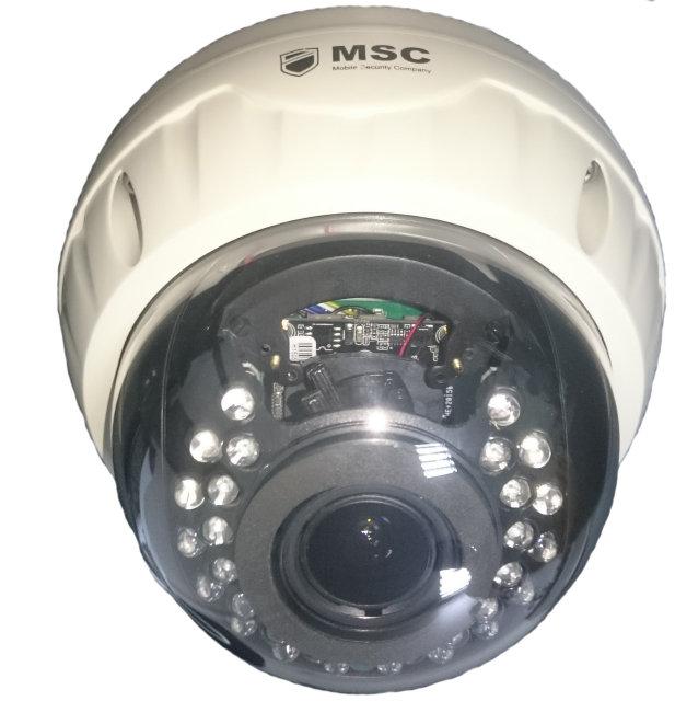 Антивандальная купольная IP камера - 1.3 mpx - вариофокальный объектив 2.8-12mm IR 20m
