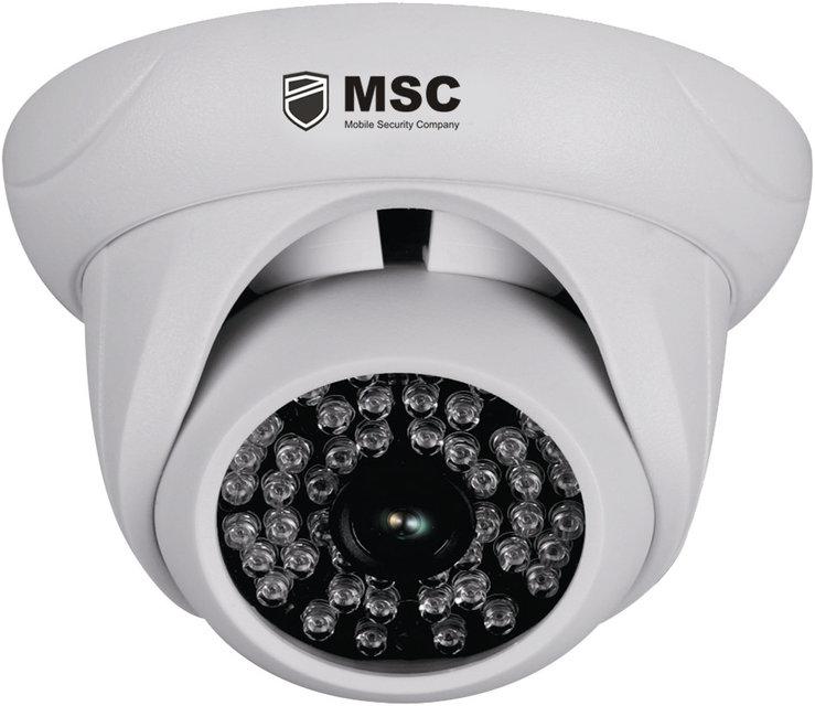 Купольная IP камера, 1,0MP (720P), с ночным видением 40 м