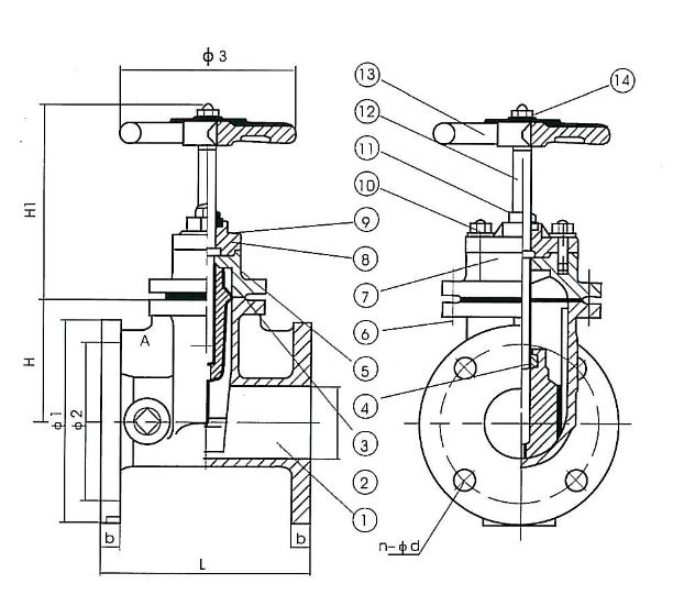 Задвижка RESILIENT WEDGE,N R S ,FLANGED GATE VALVE SIZES 2 1