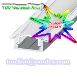 Купить Светодиодный профиль ЛПВ7 Профиль алюминиевый, анодированный, цвет - серебро