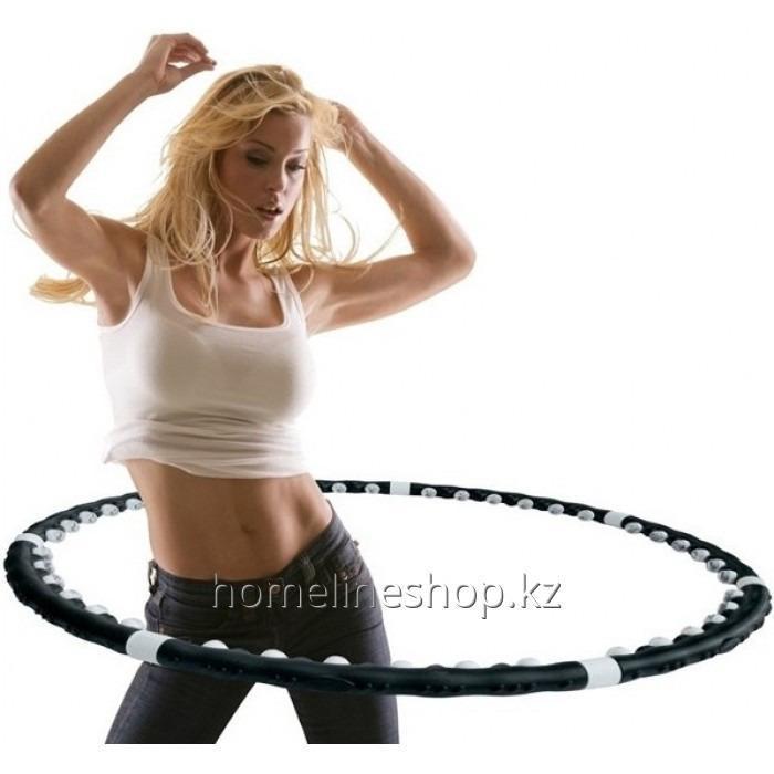 Массажный обруч-тренажер Хула Хуп с магнитными вставками