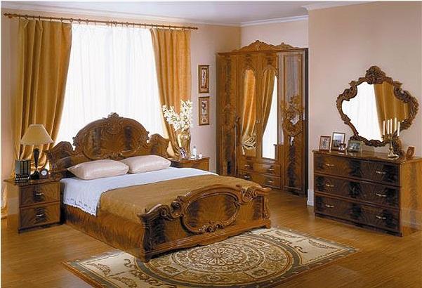 Спальный гарнитур Барокко коллекция Италия