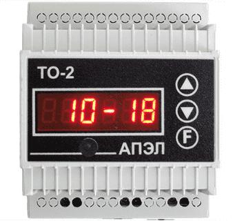 Таймер освещения ТО-2И в корпусе DIN с ИК-портом