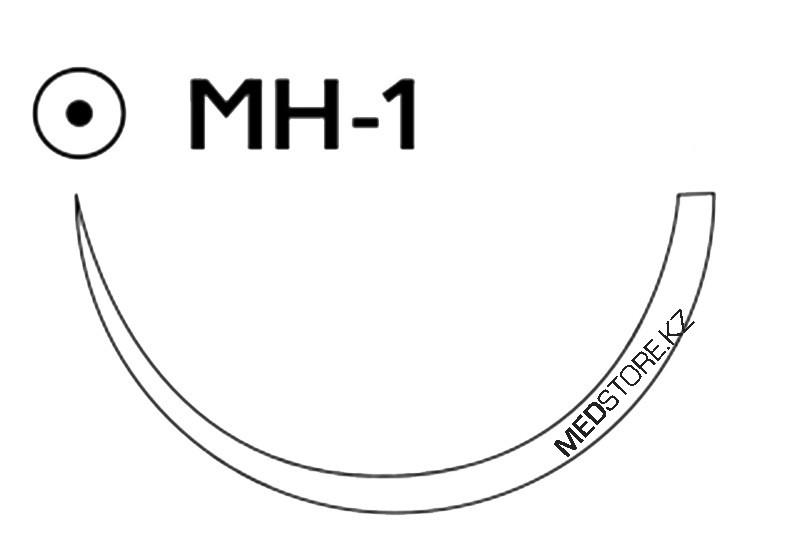 Купить Викрил фиолетовый М4 (1) 75см игла колющая MH-1