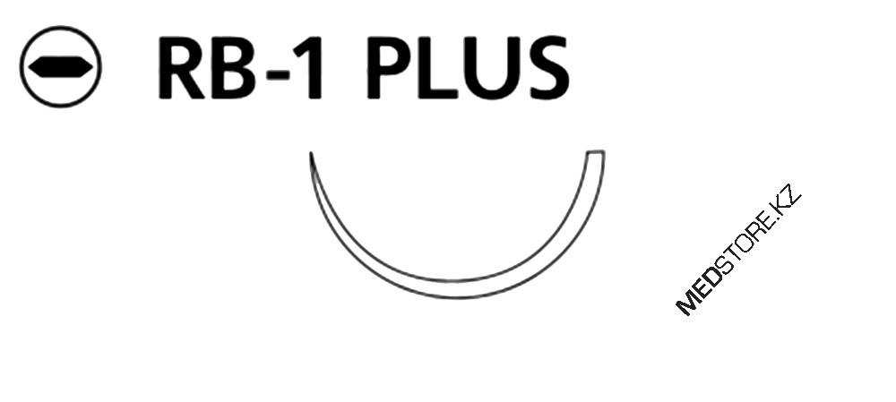Купить Викрил фиолетовый M1.5 (4/0) 75см игла колющая RB-1 Plus