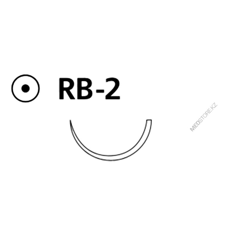 Buy Vicril unpainted M0.7 (6/0) 45 cm needle piercing RB-2