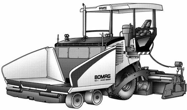 Купить Колёсный асфальтоукладчик BOMAG BF 600 Р