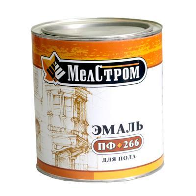 Эмаль ПФ-266  (для пола), банка 6 кг (Желто-коричн.,кр-коричневая)