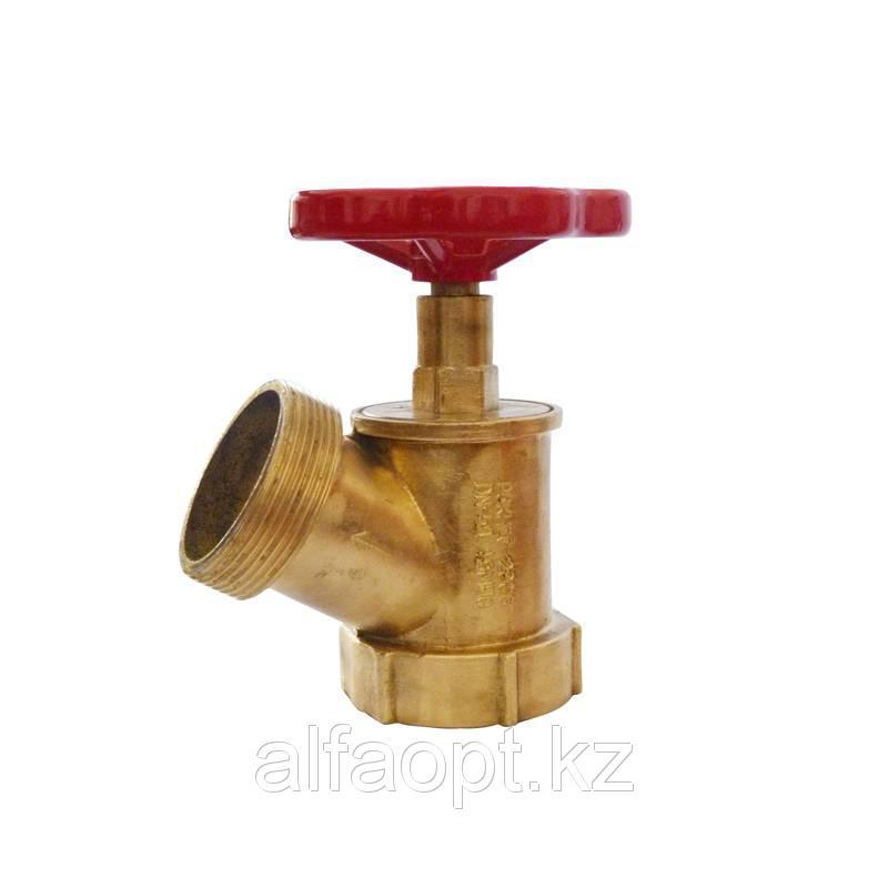 Вентиль латунный пожарный угловой 120 гр. К-ПК Ду 50 PN16 муфта-штуцер