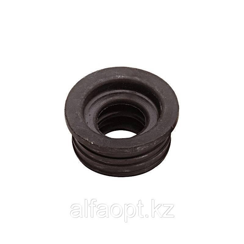 Манжета резиновая переходная Дн 50-25 д/канализации 3-лепестковая чёрная