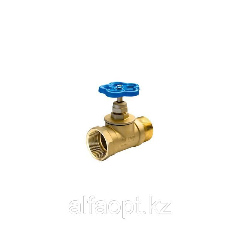 Вентиль латунный пожарный прямой 15Б3р Ду 50 PN10 муфта-штуцер БАЗ