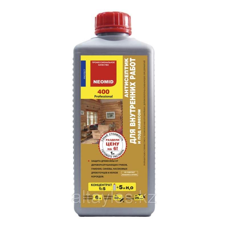 Купить Антисептик для внутренних работ Neomid 400 1 литр