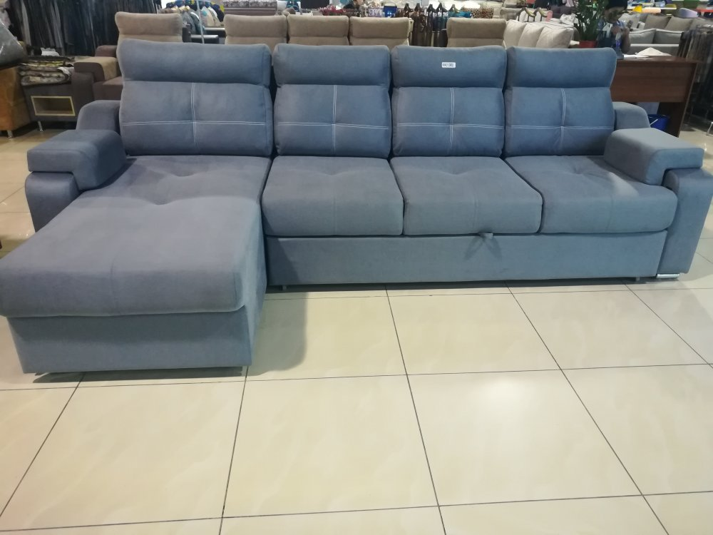 """The sofa is """"P-shaped"""