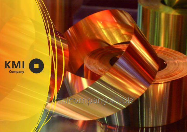 Купить Лента бронзовая 0,35х210 мм БрОФ6,5-0,15т ,БрОФ6,5-0,15 ,СuSn6 ГОСТ 4748