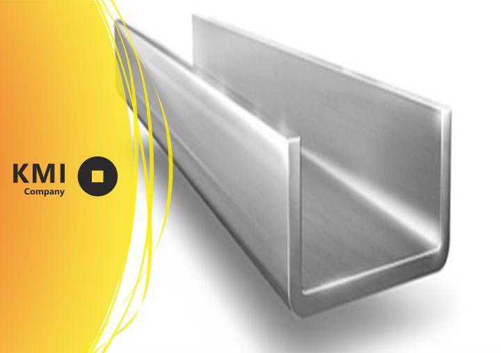 Купить Швеллер алюминиевый 100 мм АМг5 ,1550 ГОСТ 13623 равнополочный прессованный