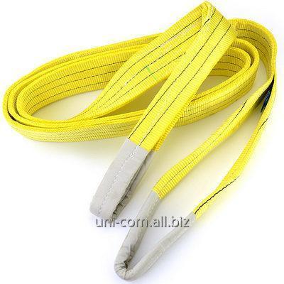 Купить Строп текстильный ленточный петлевой СТП 4.0х4000 желтая лента
