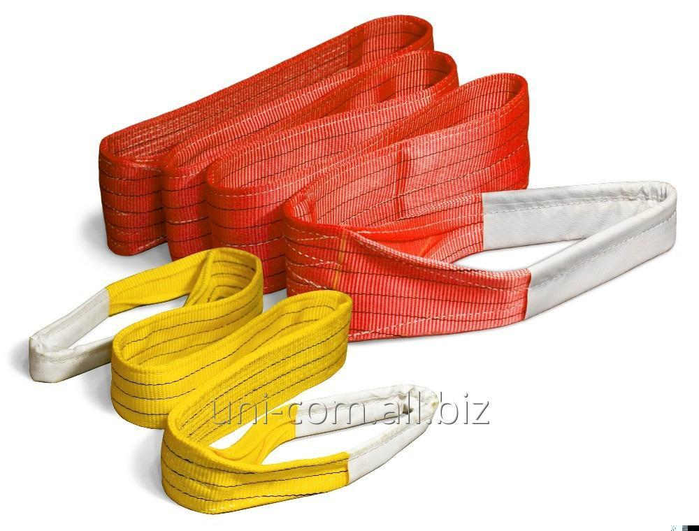 Купить Строп текстильный ленточный петлевой СТП 5.0х5000 желтая лента