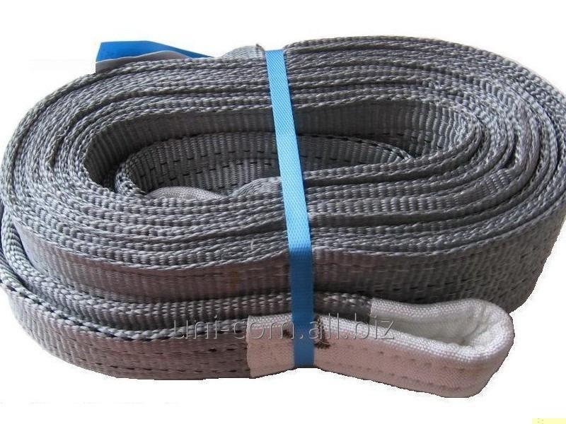 Купить Строп текстильный ленточный петлевой СТП 10.0х5000 серая лента