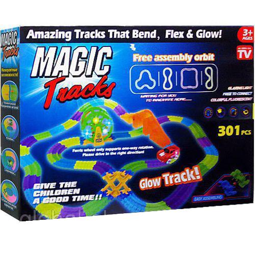 Купить Светящийся трек с музыкой и колесом Magic Tracks 301
