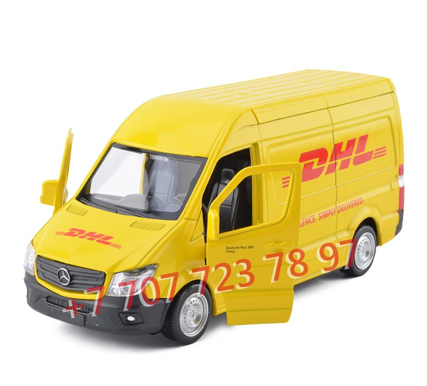 Купить Модель машинки Mercedes Benz DHL микроавтобус 1:32