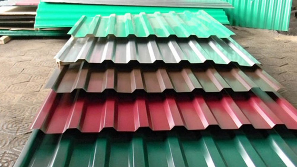 Купить  Профнастил с полимерным покрытием глянец ,толщина 0,4- Н8,Н12, Н21, Н27, Н35.