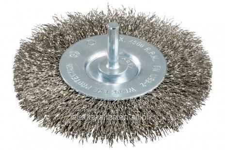Купить Круглая проволочная щетка, рифленая нержавеющая сталь